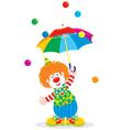 Circus clown with an umbrella