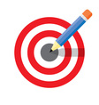 Dartboard pencil and icons vector image
