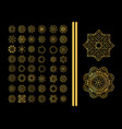decorative ornate snowflake vector image vector image