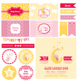 Design Elements - Baby Shower Bunny Theme vector image vector image