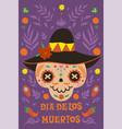dia de los muertos greeting banner for day vector image vector image