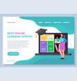 education landing page with science icon vector image