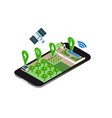 farming control technology isometry vector image