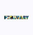 february concept word art vector image vector image
