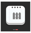 fence icon gray icon on notepad style template vector image