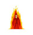 flaming fire devil fantasy mystic creature vector image vector image