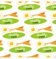 food organic and healthy products seamless pattern vector image vector image