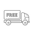 free delivery truck line icon vector image