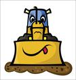 Funny Bulldozer vector image vector image