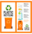 garbage orange container info with plastic vector image vector image