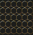gold honeycomb frames seamless texture vector image