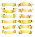 golden ribbons congratulations banner element vector image