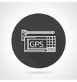 GPS black round icon vector image vector image