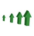 green arrows 3d dynamic sfinancial success vector image