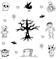 Halloween ghost zombie stock doodle vector image vector image