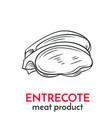 hand drawn entrecote icon vector image vector image