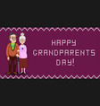 happy grandparents day greeting card for vector image vector image