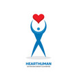 heart human character - logo template vector image