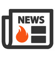 hot news flat icon vector image