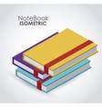 isometric notebook icon design vector image