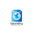 laundry logo templates vector image