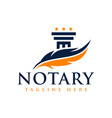 legal consulting agency and notary logo
