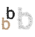 Lower case Letter B with floral elements vector image vector image