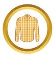 Lumberjack shirt icon cartoon style vector image