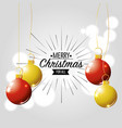 merry christmas card decoration design vector image