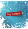 Merry Christmas realistic textile red Ribbon vector image vector image