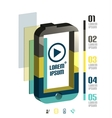 Modern minimal mobile phone infographic vector image vector image