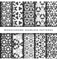 monochrome abstract seamless pattern set vector image vector image