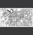 montgomery alabama usa city map in retro style vector image