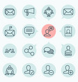 network icons set collection of message bullhorn vector image vector image