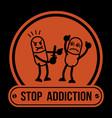 no drugs label campaign no drugs label campaign vector image vector image