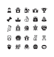 pets black icons vector image