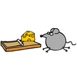 Rat and cheese vector image vector image