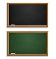 realistic blackboard green and black chalkboard vector image
