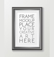realistic vertical gray frame template frame on vector image vector image