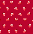 Ruby Gem Hearts Seamless Pattern vector image vector image
