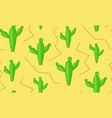 seamless cacti in desert pattern cactus texture vector image vector image
