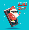 secret santa claus gift bag christmas new year vector image