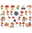 set children with education objects isolated vector image vector image