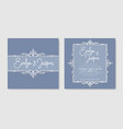 set for two wedding invitation greeting card vector image vector image