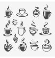 Set of decorative coffee cups vector image