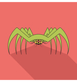 Spider flat icon with long shadow vector image vector image