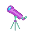 Telescope icon cartoon style vector image vector image