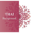 thai background flower element