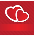 Valentines cards with two hearts and place for vector image vector image