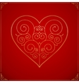 Valentines Day heart Ornate love symbol vector image vector image